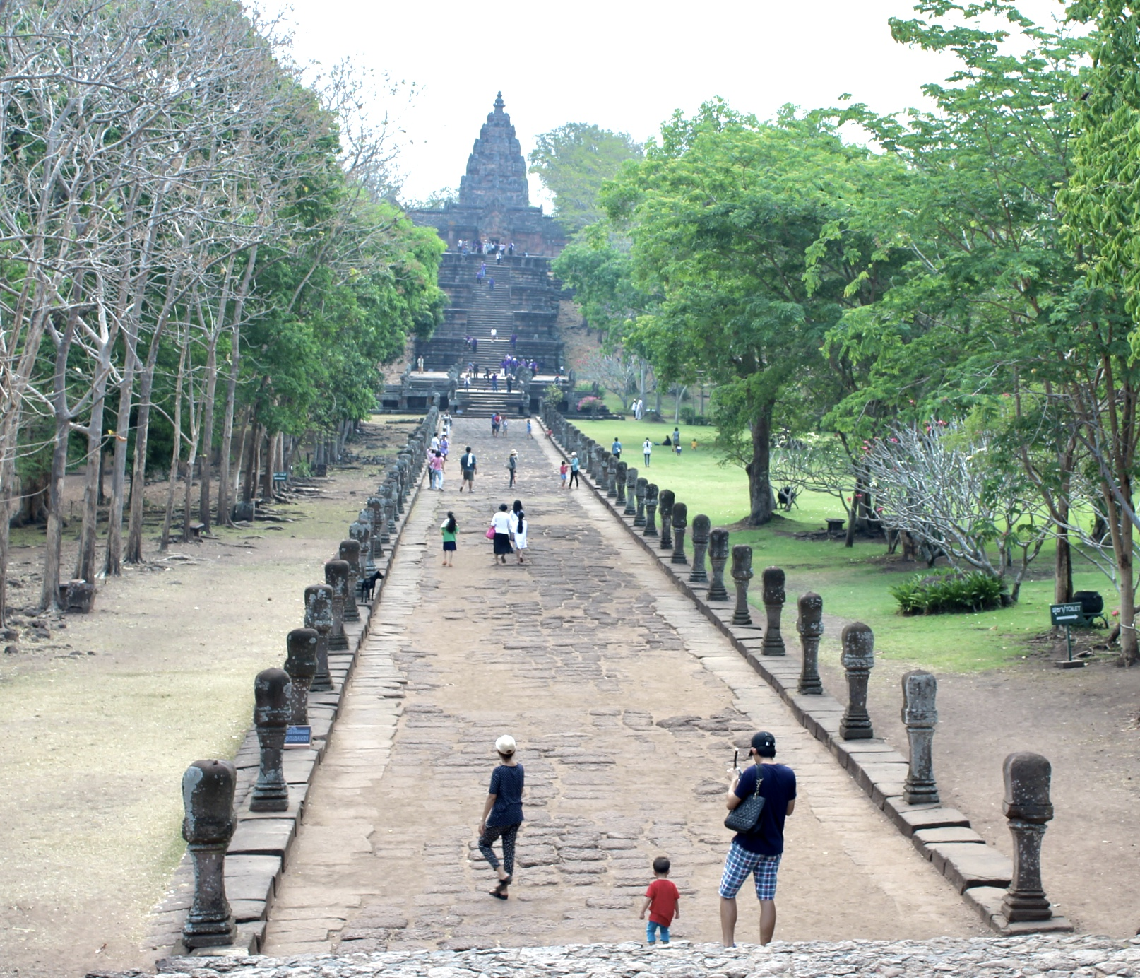 causeway that leads to the Main Temple